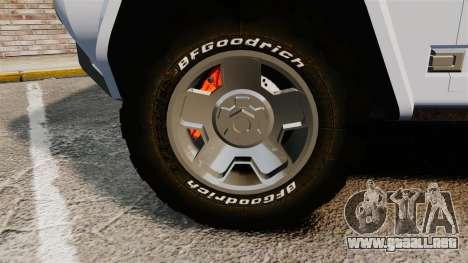 Ford Bronco Concept 2004 para GTA 4 vista hacia atrás