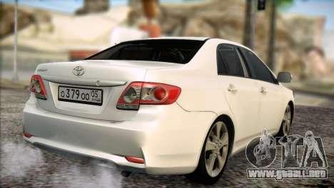 Toyota Corolla 2012 para la visión correcta GTA San Andreas