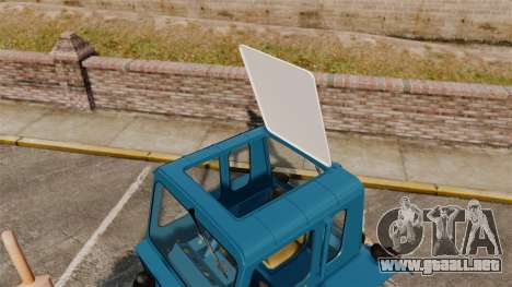 Tractor MTZ-80 para GTA 4 vista hacia atrás