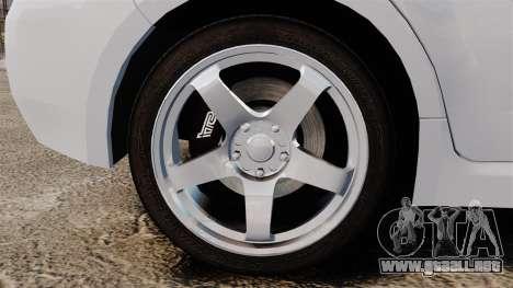 Subaru Impreza 2010 para GTA 4 vista hacia atrás