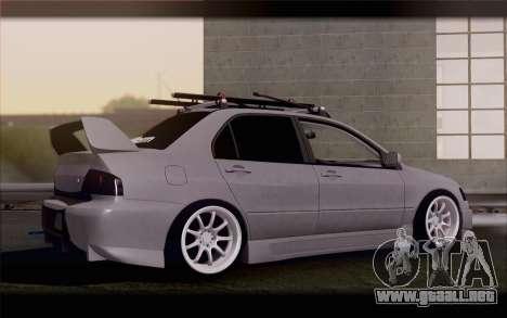 Mitsubishi Lancer Evolution Stance para GTA San Andreas left