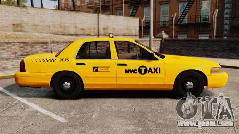 Ford Crown Victoria 1999 NYC Taxi para GTA 4 left