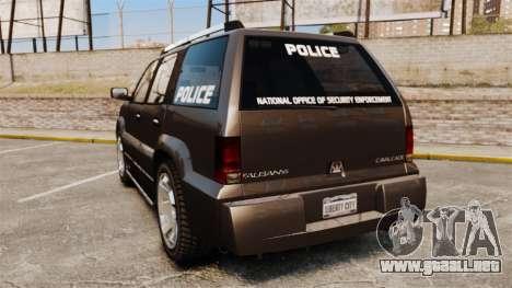 Cavalcade Police para GTA 4 Vista posterior izquierda