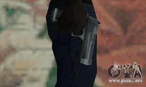 Desert Eagle plata para GTA San Andreas tercera pantalla