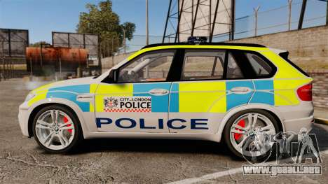BMW X5 City Of London Police [ELS] para GTA 4 left