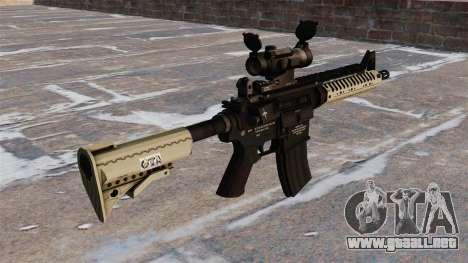 Automático carabina M4 VLTOR para GTA 4 segundos de pantalla