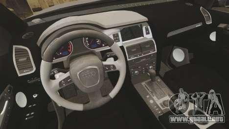 Audi Q7 Metropolitan Police [ELS] para GTA 4 vista interior
