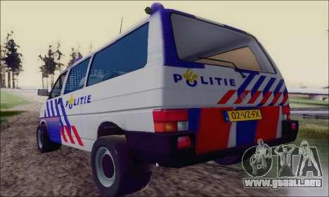 Volkswagen T4 Politie para la visión correcta GTA San Andreas