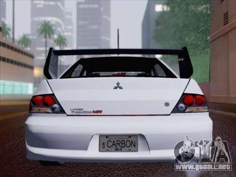 Mitsubishi Lancer Evo IX MR Edition para vista inferior GTA San Andreas