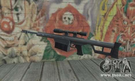 Rifle de francotirador de los Saints Row 2 para GTA San Andreas segunda pantalla