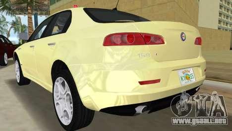 Alfa Romeo 159 ti para GTA Vice City vista lateral izquierdo