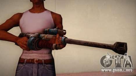 Rifle de francotirador de Bulletstorm para GTA San Andreas tercera pantalla