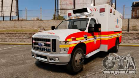 Ford F-350 FDNY Ambulance [ELS] para GTA 4