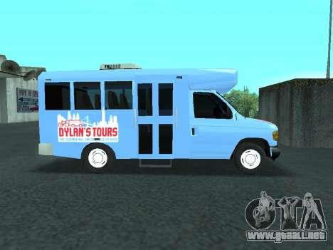 Ford Shuttle Bus para GTA San Andreas vista hacia atrás
