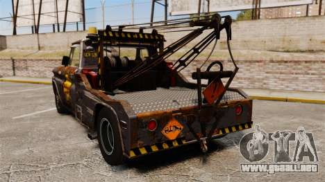 Chevrolet Tow truck rusty Stock para GTA 4 Vista posterior izquierda