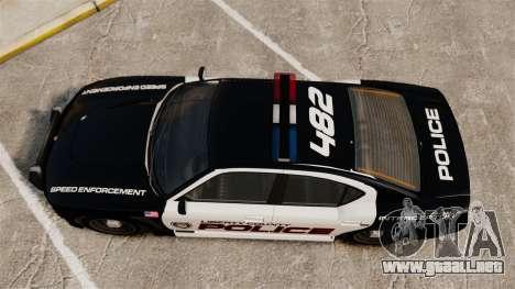 GTA V Bravado Buffalo Supercharged LCPD para GTA 4 visión correcta