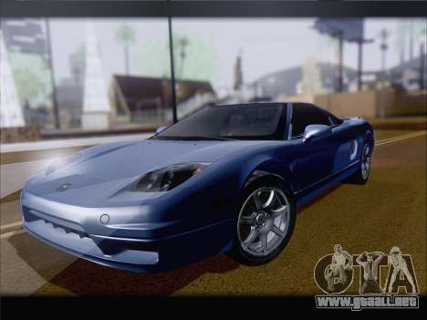Acura NSX para GTA San Andreas vista hacia atrás