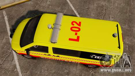 Volkswagen Transporter T5 2010 [ELS] para GTA 4 visión correcta