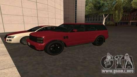 Baller GTA 5 para visión interna GTA San Andreas