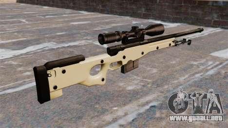 Rifle de francotirador L115A1 AW para GTA 4 segundos de pantalla