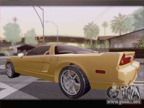 Acura NSX para vista inferior GTA San Andreas