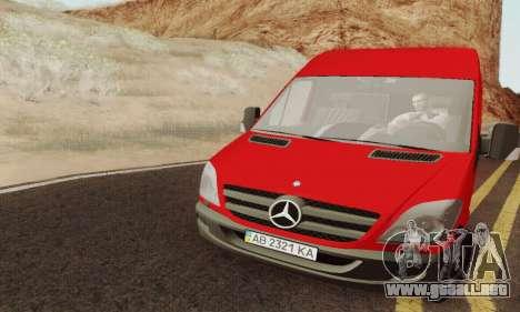 Mersedes-Benz Sprinter para la visión correcta GTA San Andreas