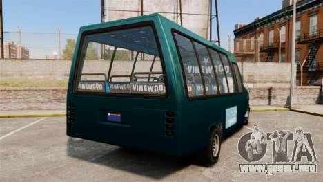 GTA V Brute Tour Bus para GTA 4 Vista posterior izquierda