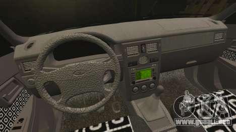 Vaz-2170 Lada Priora Turbo para GTA 4 vista superior