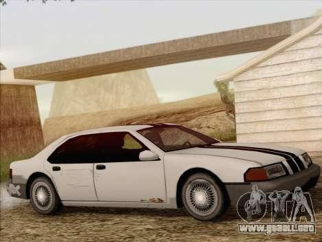 Fortune Sedan para GTA San Andreas vista hacia atrás