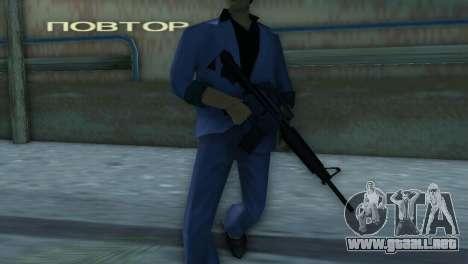 M4 de la versión XBOX para GTA Vice City sucesivamente de pantalla