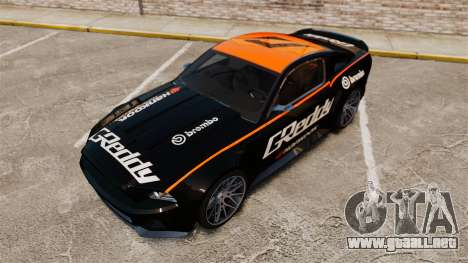 Ford Mustang GT 2013 NFS Edition para GTA 4 vista desde abajo