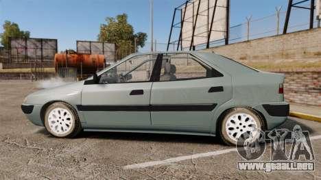 Citroen Xantia 1999 para GTA 4 left