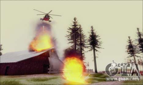 Helicóptero de ataque buitre de GTA 5 para visión interna GTA San Andreas