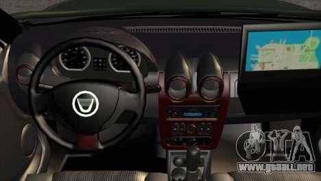 Dacia Duster Army Skin 1 para la visión correcta GTA San Andreas