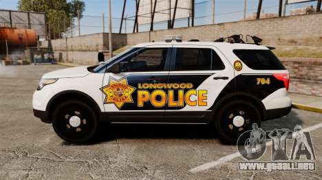 Ford Explorer 2013 Longwood Police [ELS] para GTA 4 left