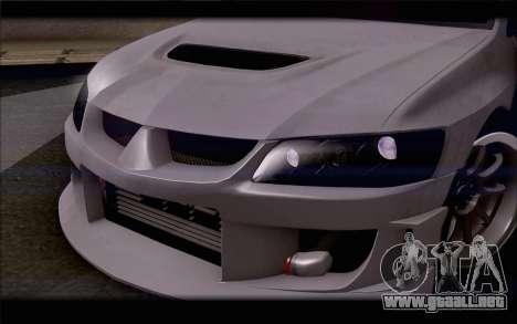 Mitsubishi Lancer Evolution Stance para visión interna GTA San Andreas