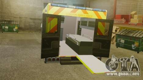 Mercedes-Benz Sprinter [ELS] London Ambulance para GTA 4 vista interior