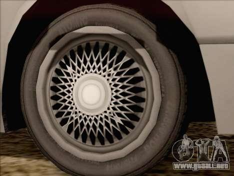 Fortune Sedan para GTA San Andreas vista posterior izquierda