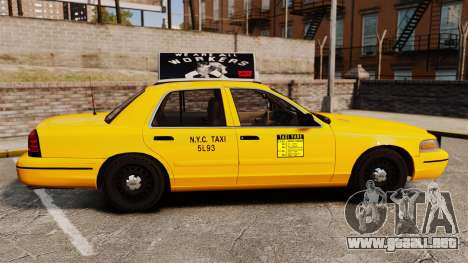 Ford Crown Victoria 1999 NY Old Taxi Design para GTA 4 left