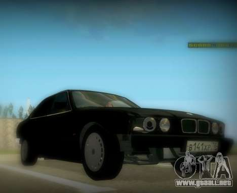 BMW 525 E34 para GTA San Andreas vista posterior izquierda