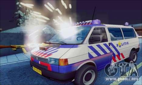 Volkswagen T4 Politie para GTA San Andreas left