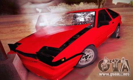 Toyota Corolla GT-S 1985 para vista inferior GTA San Andreas