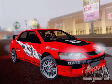 Mitsubishi Lancer Evo IX MR Edition para visión interna GTA San Andreas
