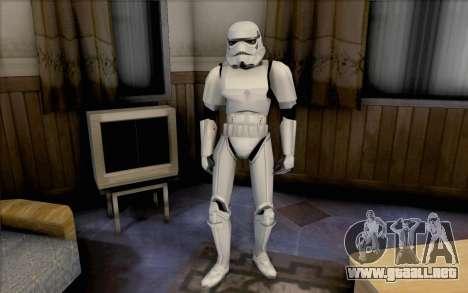 Stormtrooper de Star Wars para GTA San Andreas segunda pantalla