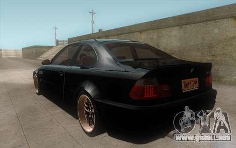 BMW M3 e46 Duocolor Edit para la visión correcta GTA San Andreas