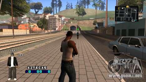 C-HUD Aztecaz para GTA San Andreas segunda pantalla