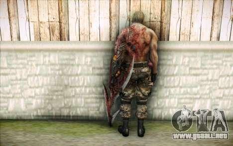 Un infectado Krauser para GTA San Andreas segunda pantalla