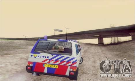 Volkswagen T4 Politie para la vista superior GTA San Andreas