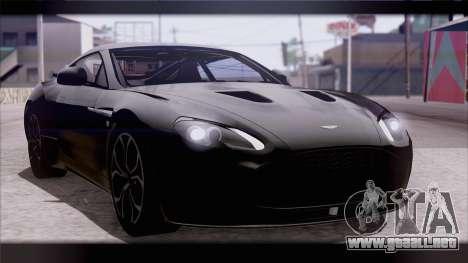 Aston Martin V12 Zagato 2012 [IVF] para GTA San Andreas