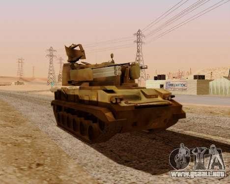 Tunguska 2S6 para la visión correcta GTA San Andreas